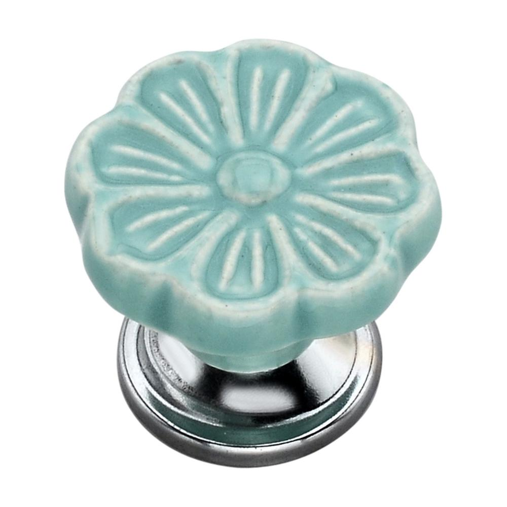 Anemone 1.57 in. Sky Blue Cabinet Knob