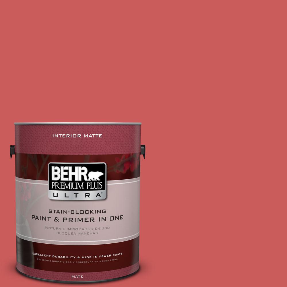 BEHR Premium Plus Ultra 1 gal. #P160-5 Pinkadelic Matte Interior Paint
