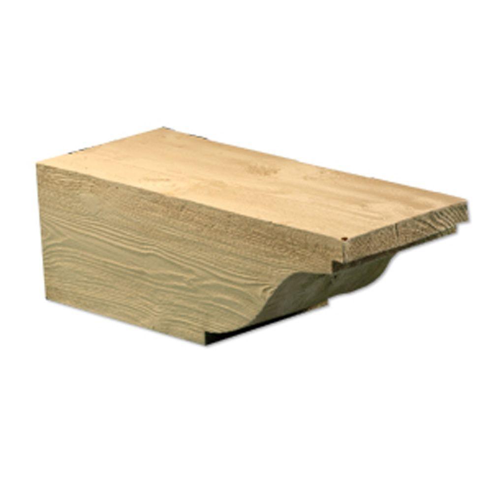 8-1/2 in. x 7 in. x 20 in. Polyurethane Wood grain texture Corbel