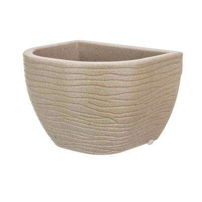 Small Beige Stone Effect Resin Wall Planter