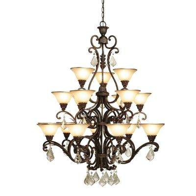 Florence 18-Light Oil Rubbed Bronze Chandelier