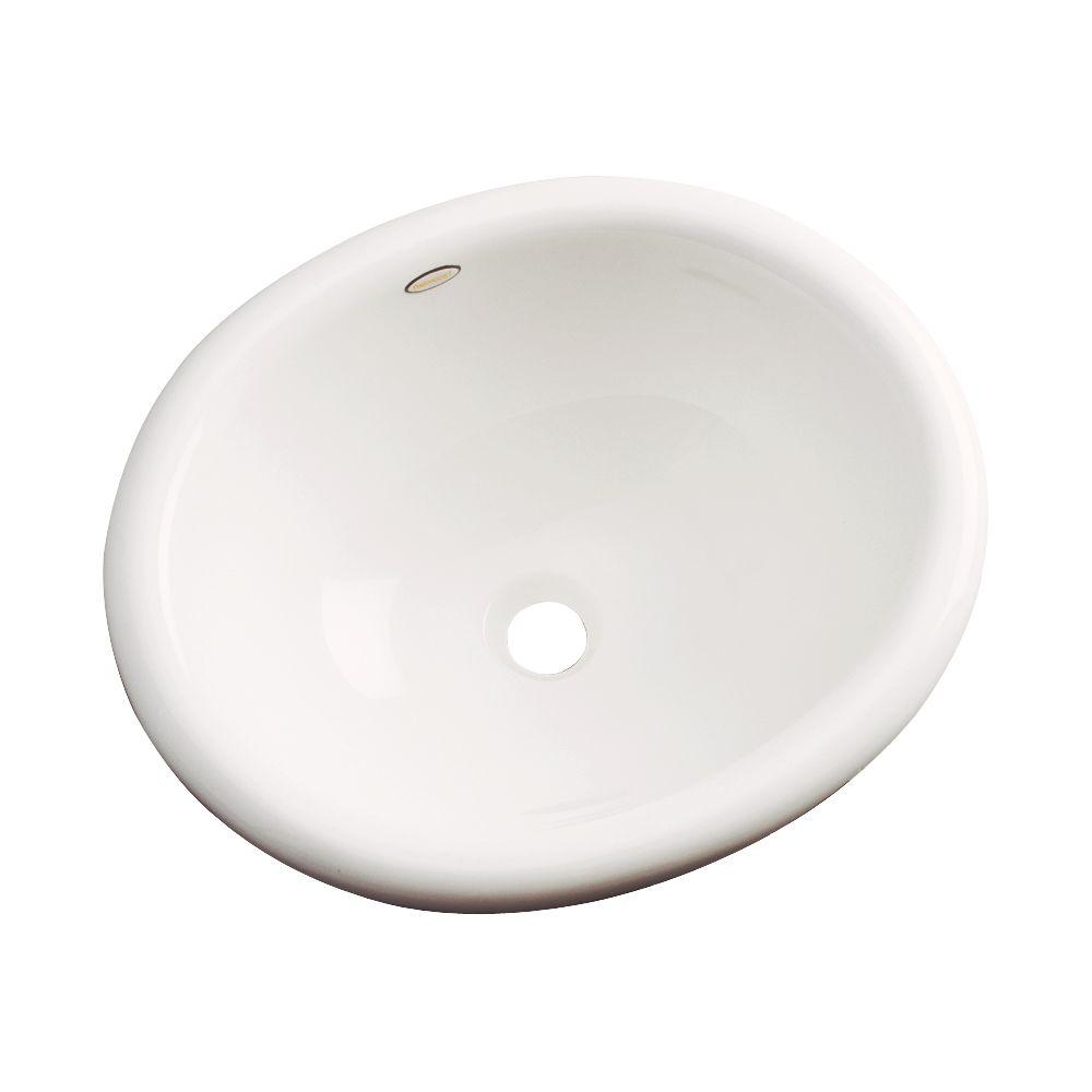 Thermocast Madeira Drop-in Bathroom Sink in Biscuit