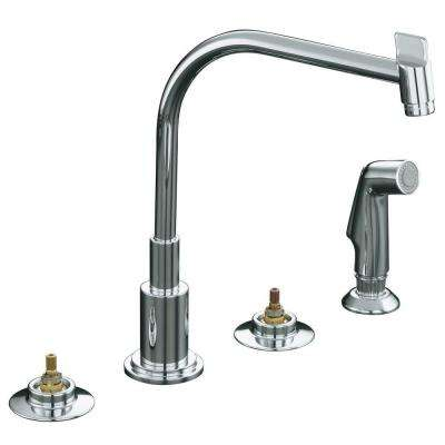 Triton 2-Handle Standard Kitchen Faucet in Polished Chrome