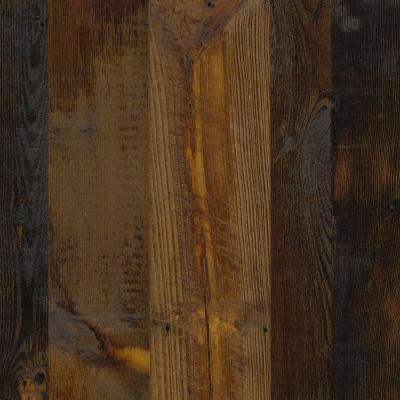 8 in. x 10 in. Laminate Sheet in Antique Tobacco Pine with Virtual Design SoftGrain Finish