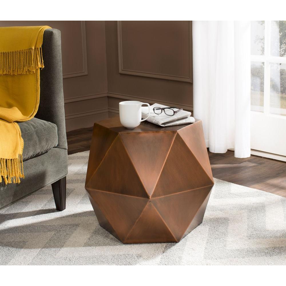 Safavieh Astrid Copper Side Table