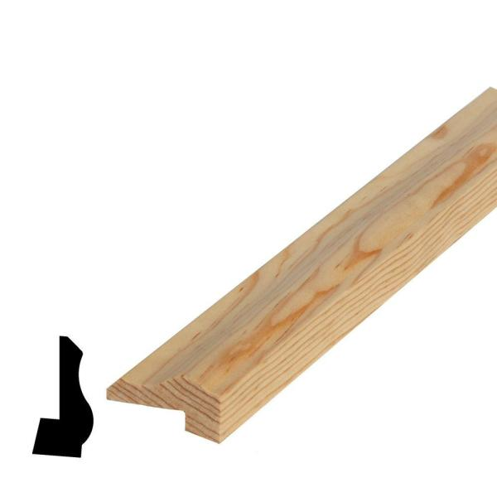 13/16 in. x 1-5/8 in. x 96 in. Pine Ply Cap Moulding