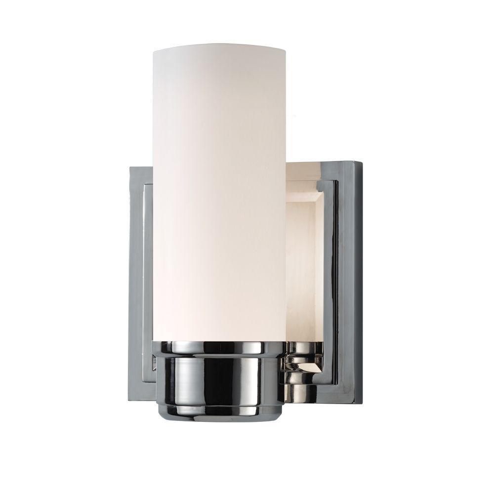 Lucas 1-Light Polished Nickel Vanity Light