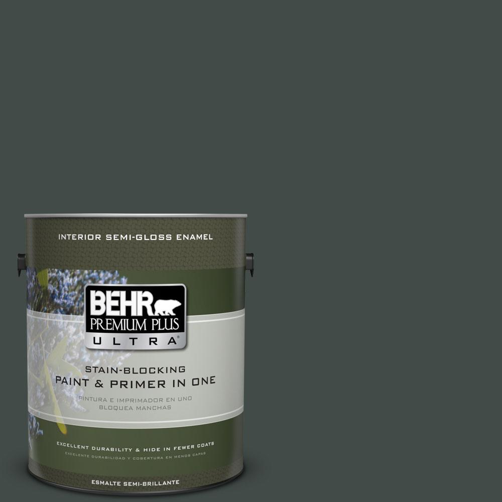 BEHR Premium Plus Ultra Home Decorators Collection 1-gal. #HDC-CL-21 Sporting Green Semi-Gloss Enamel Interior Paint