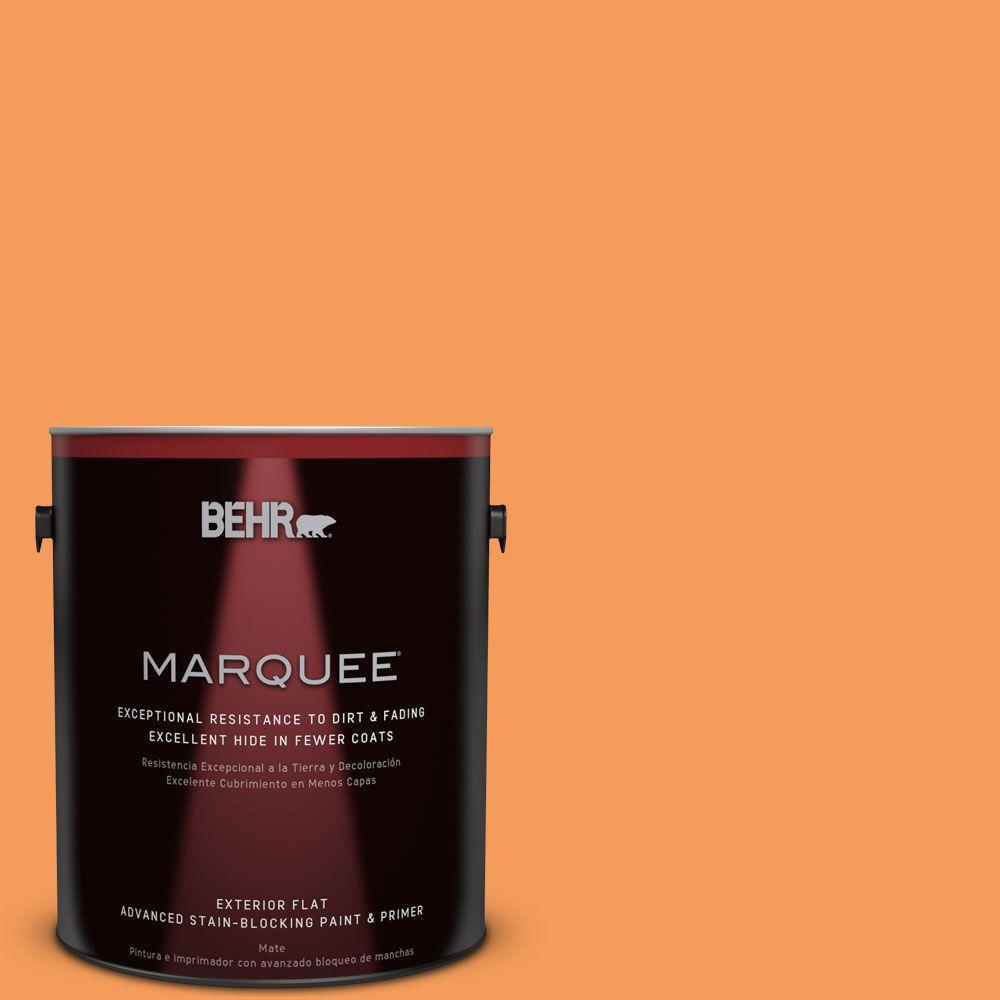 BEHR MARQUEE 1-gal. #P220-6 Bergamot Orange Flat Exterior Paint