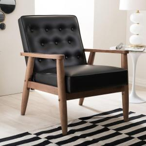 Marvelous Baxton Studio Sorrento Mid Century Black Faux Leather Ocoug Best Dining Table And Chair Ideas Images Ocougorg