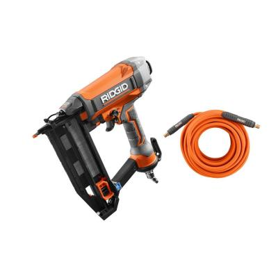 16-Gauge 2-1/2 in. Straight Finish Nailer with 1/4 in. 50 ft. Lay Flat Air Hose
