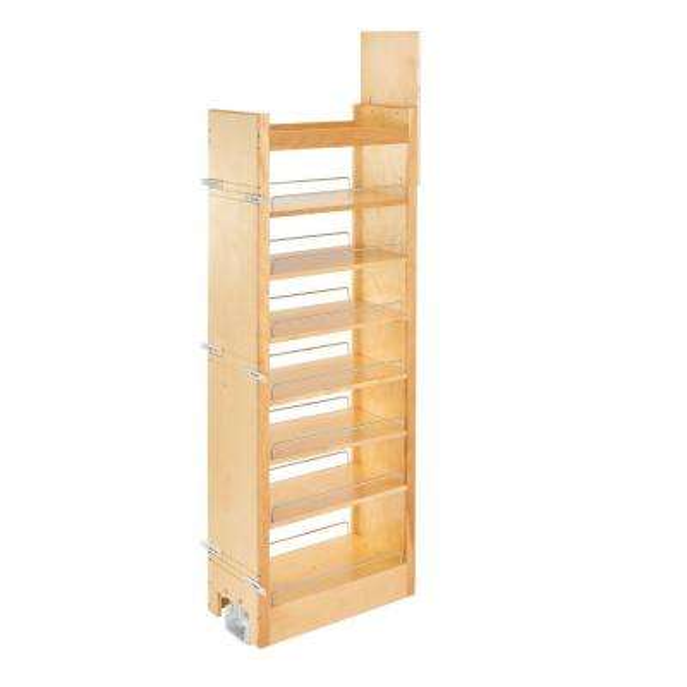59.25 in. H x 11 in. W x 22 in. D Pull-Out Wood Tall Cabinet Pantry