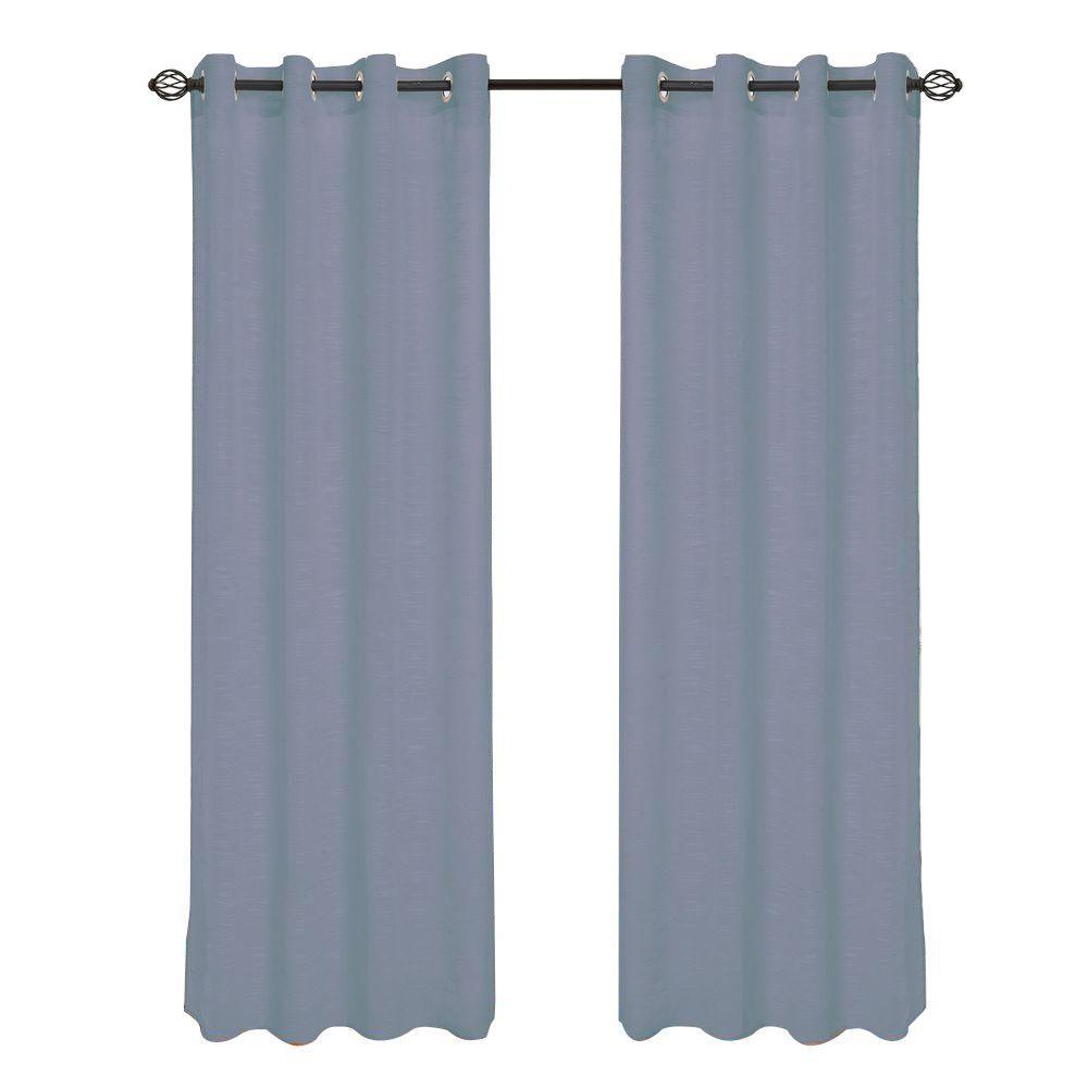 Grey Mia Jacquard Grommet Curtain Panel, 108 in. Length