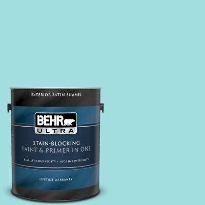 Behr Ultra 1 Gal Ce 02 Mermaid Tears Satin Enamel Exterior Paint And Primer In One 985001 The Home Depot
