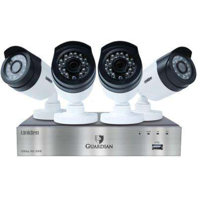 4-Channel 1080p DVR System with 4 Outdoor Bullet Cameras