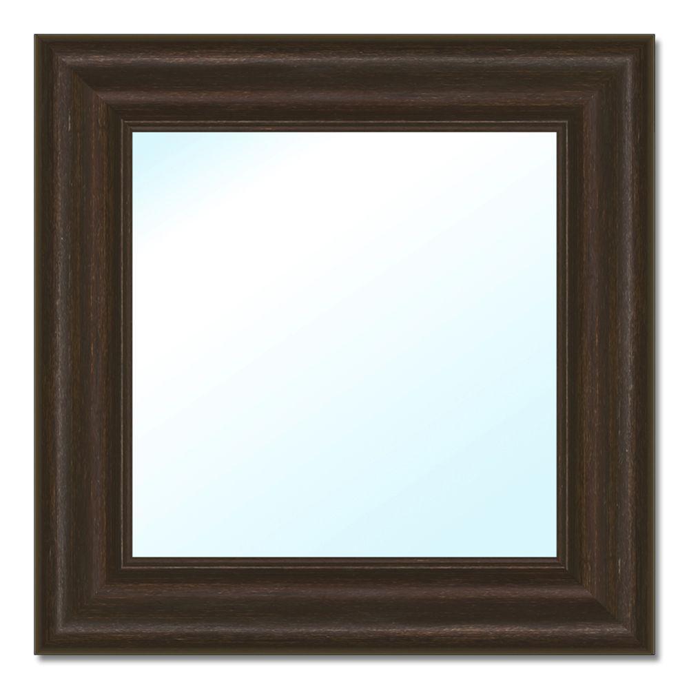 17.75 in. H x 17.75 in. W Polystyrene Framed Mirror