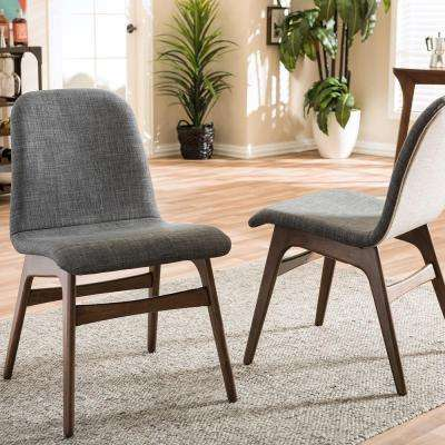 embrace gray fabric upholstered dining chairs set of 2