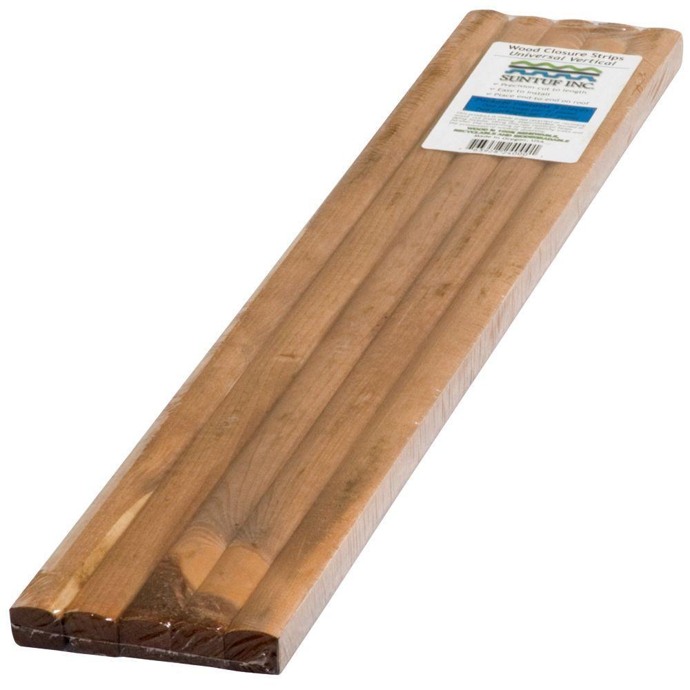Suntuf 24 in. Universal Vertical Wood Closure Strips (5-Pack)