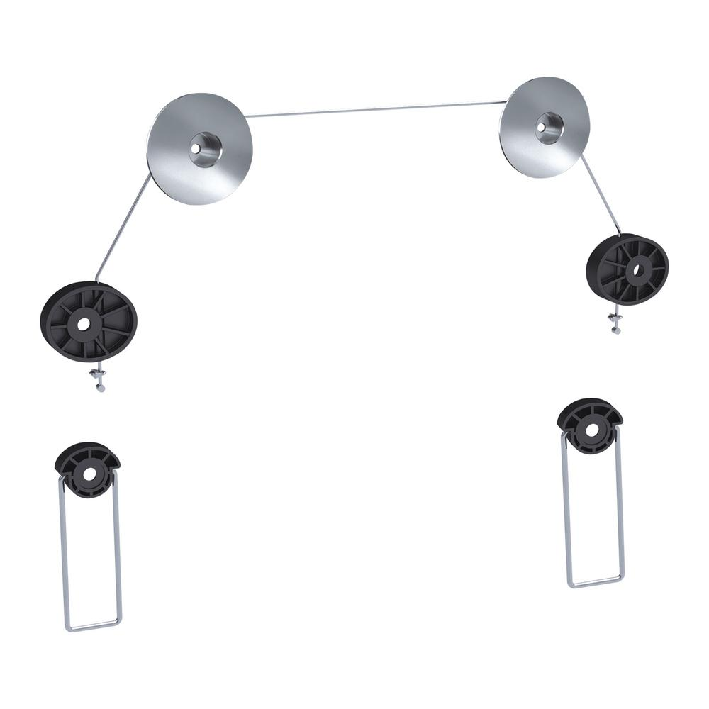 Qualgear Universal Ultra Slim Low Profile Wire Rope Hanging Style Wiring Wall Mount Tv Fixed For