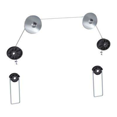 Universal Ultra Slim Low-Profile Wire Rope Hanging-Style Fixed Wall Mount for 37 in. - 70 in. TVs