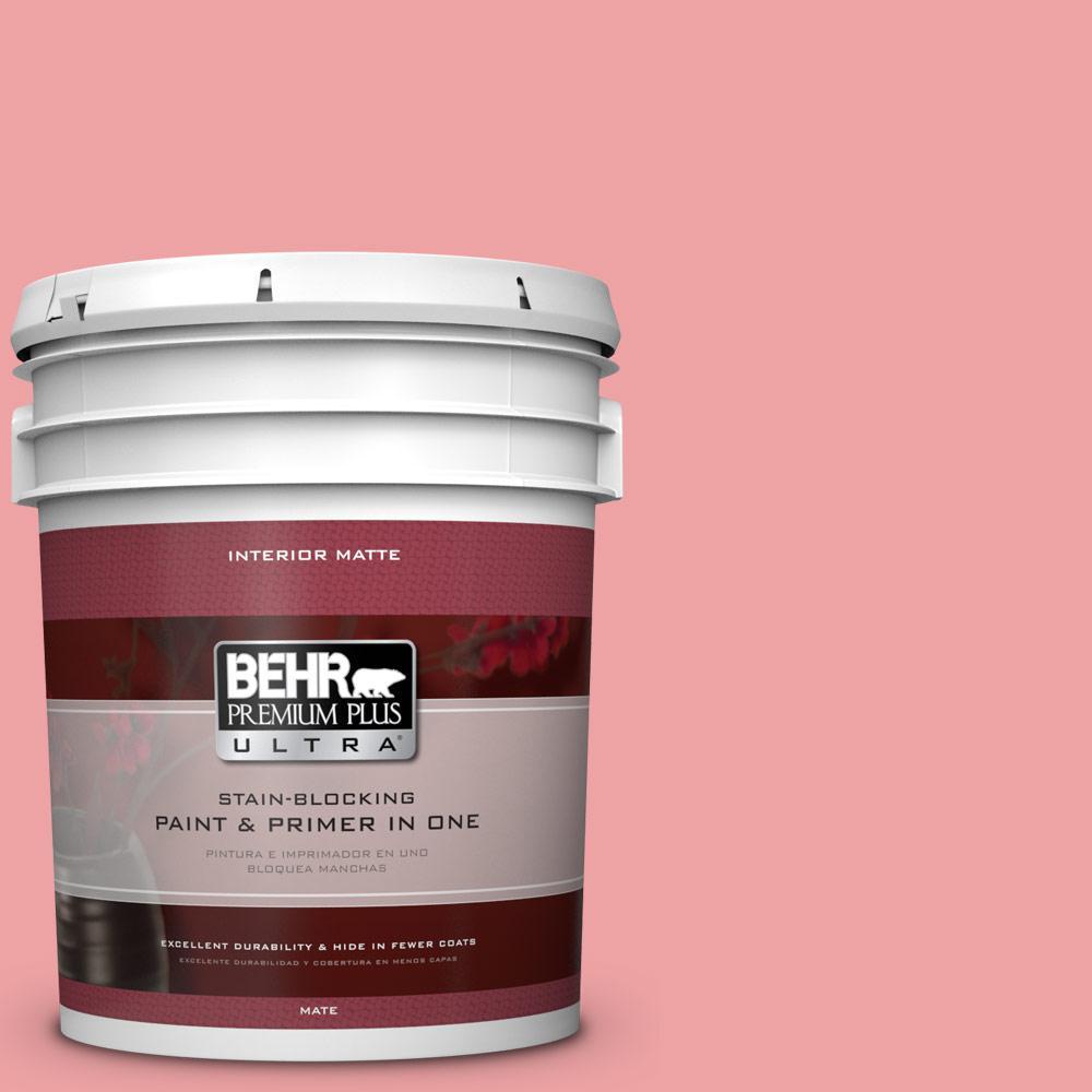 BEHR Premium Plus Ultra 5 gal. #P170-3 Infatuation Matte Interior Paint