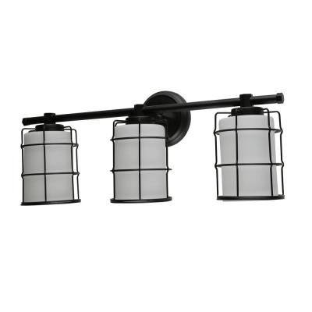 Albany 3-Light Black Bath Light