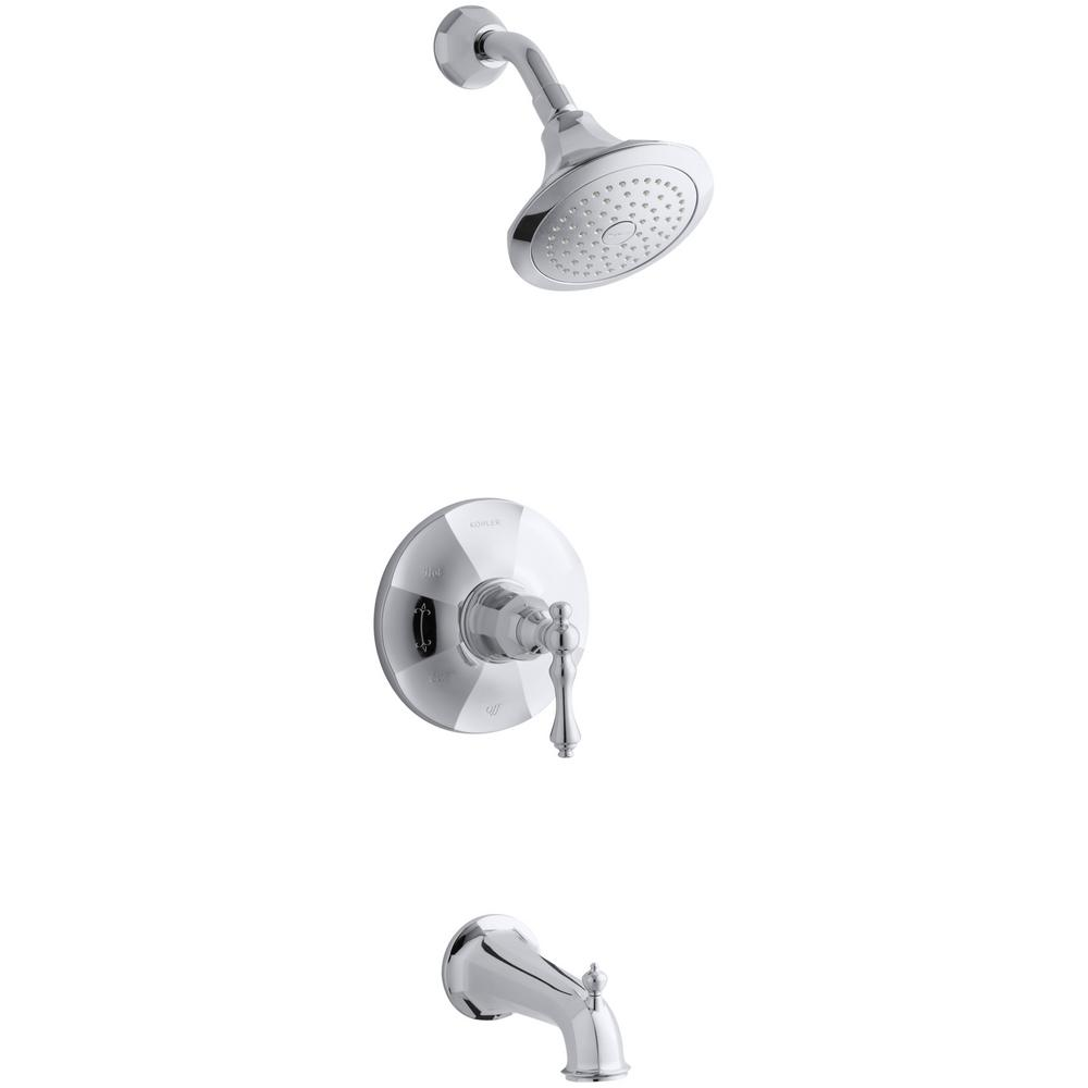 KOHLER Kelston Single-Handle 1-Spray 2.5 GPM Tub and Shower Faucet ...