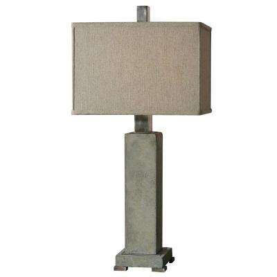 33 in. Concrete Table Lamp