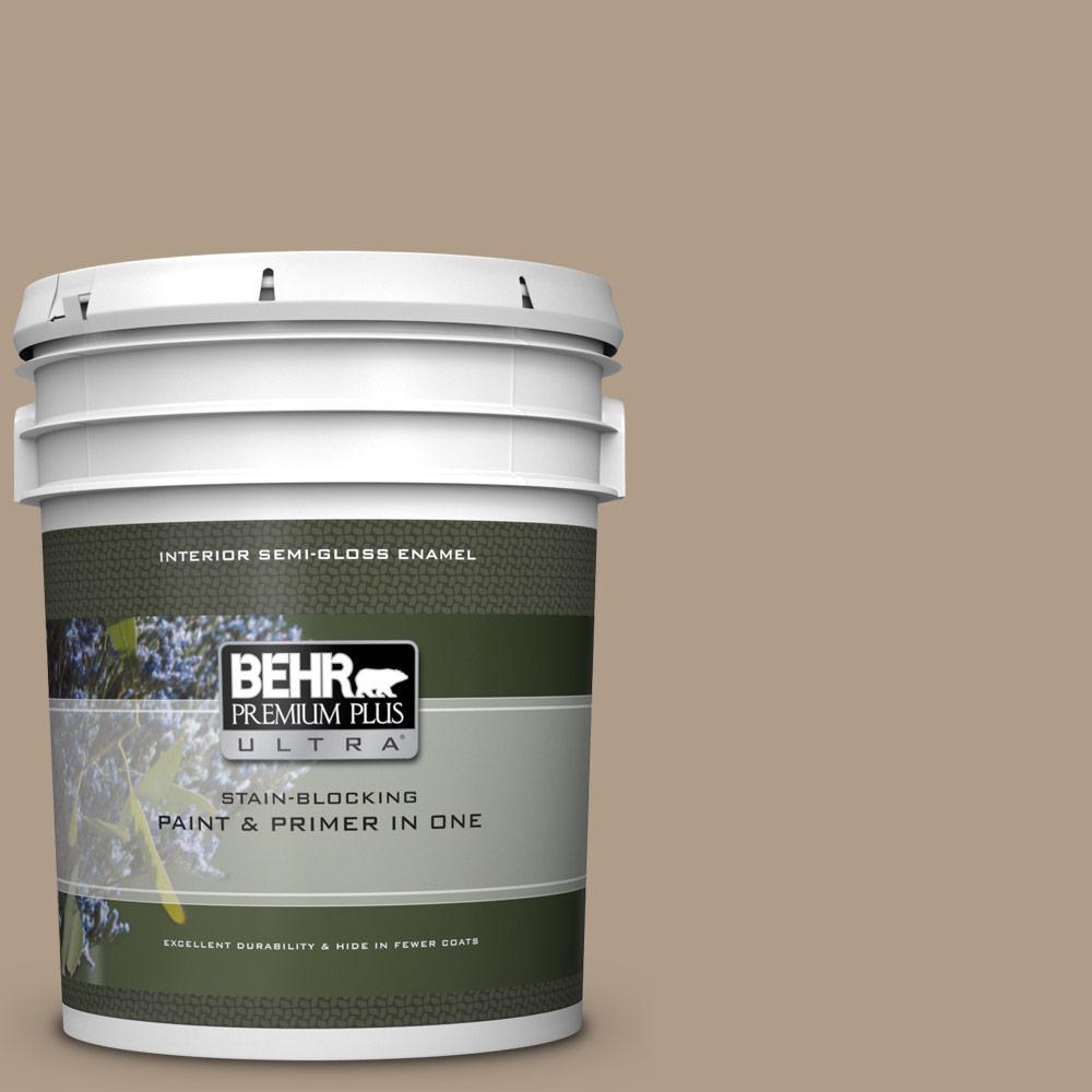 Behr Premium Plus Ultra 5 Gal Bnc 14 Over The Taupe Semi Gloss