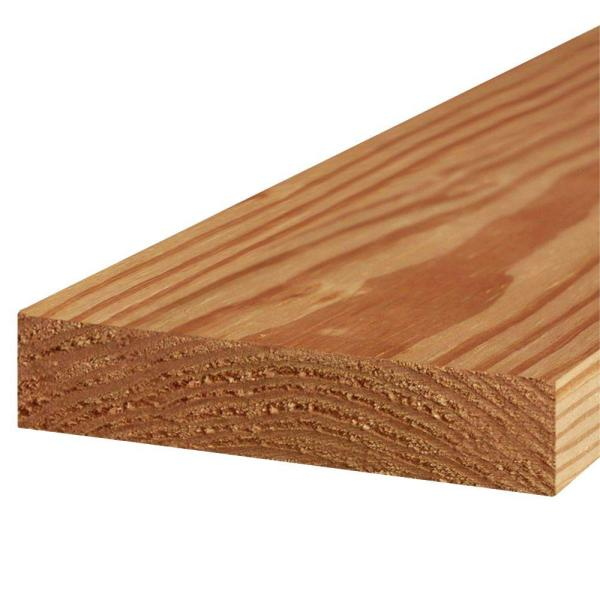 2 in. x 8 in. x 12 ft. #2 Prime Cedar-Tone Ground Contact Pressure-Treated Lumber