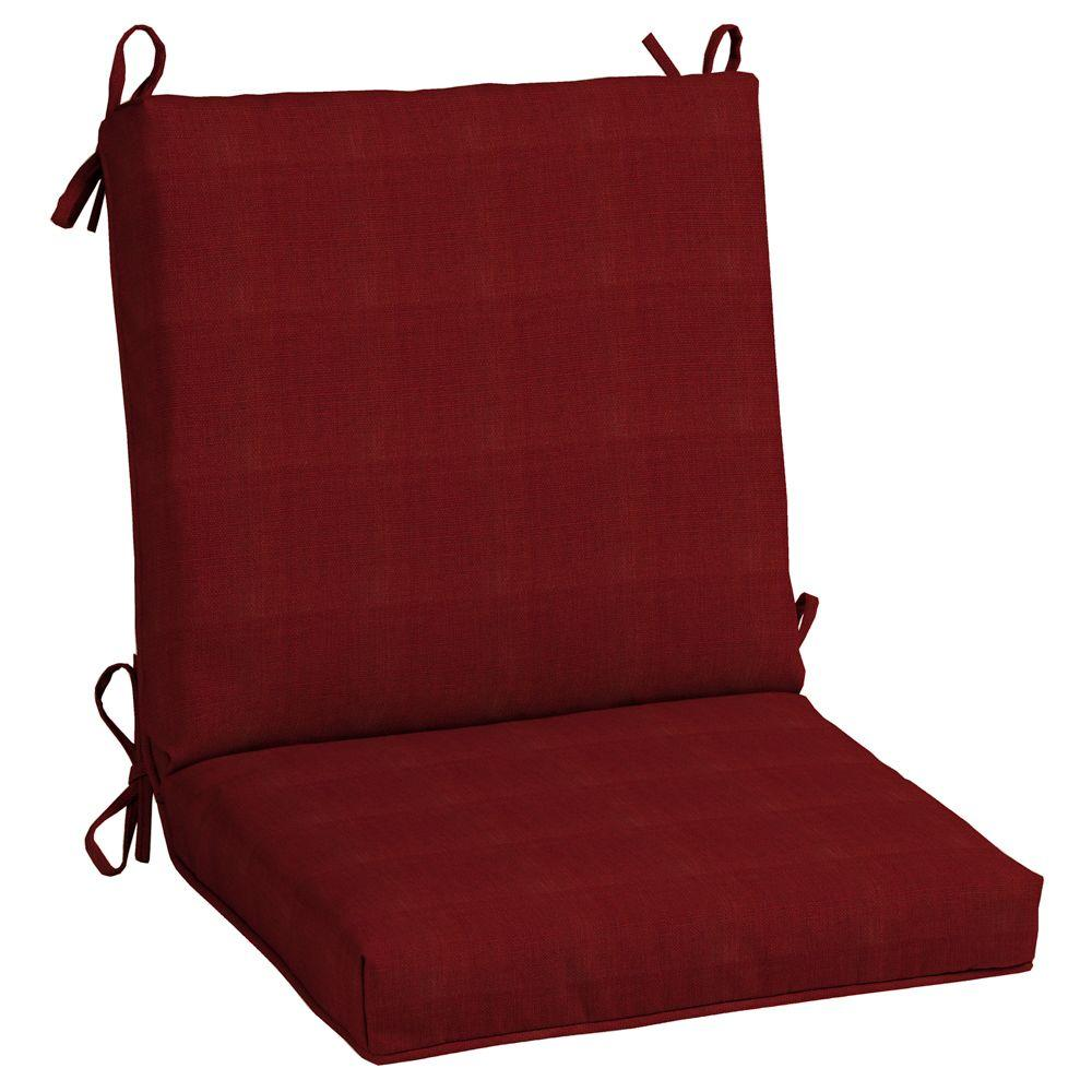 hampton bay chili quick dry mid back outdoor chair cushion
