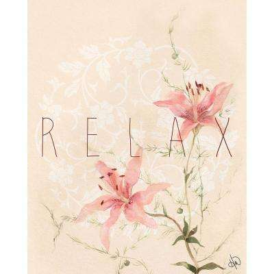 """16 in. x 20 in. """"Realx Lily"""" Planked Wood Wall Art Print"""