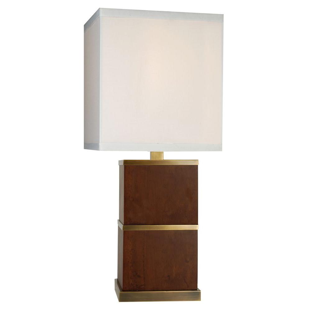 Trend Lighting Pique 33 in. Dark Walnut Table Lamp
