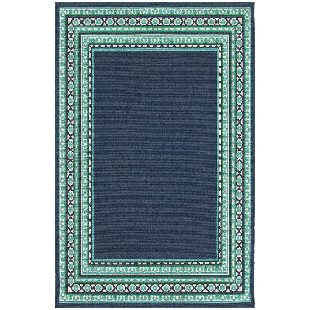 Home Decorators Collection Tonga Navy 4 Ft. X 6 Ft. Indoor/Outdoor Area