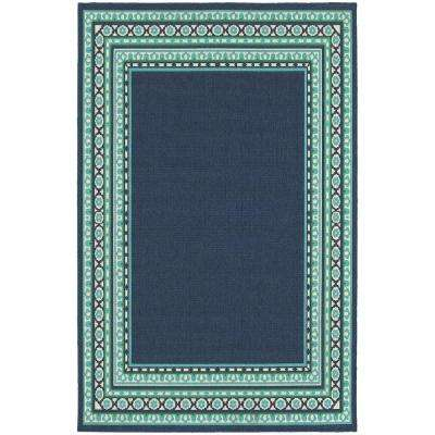 Tonga Navy 4 ft. x 6 ft. Indoor/Outdoor Area Rug
