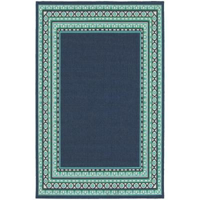 Tonga Navy 5 ft. x 8 ft. Indoor/Outdoor Area Rug