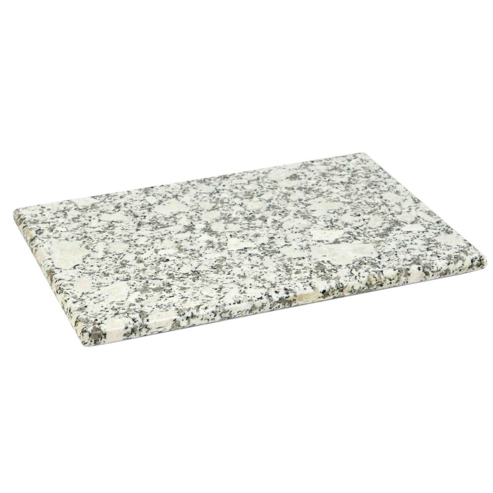 HOMEbasics Home Basics Granite Cutting Board, White