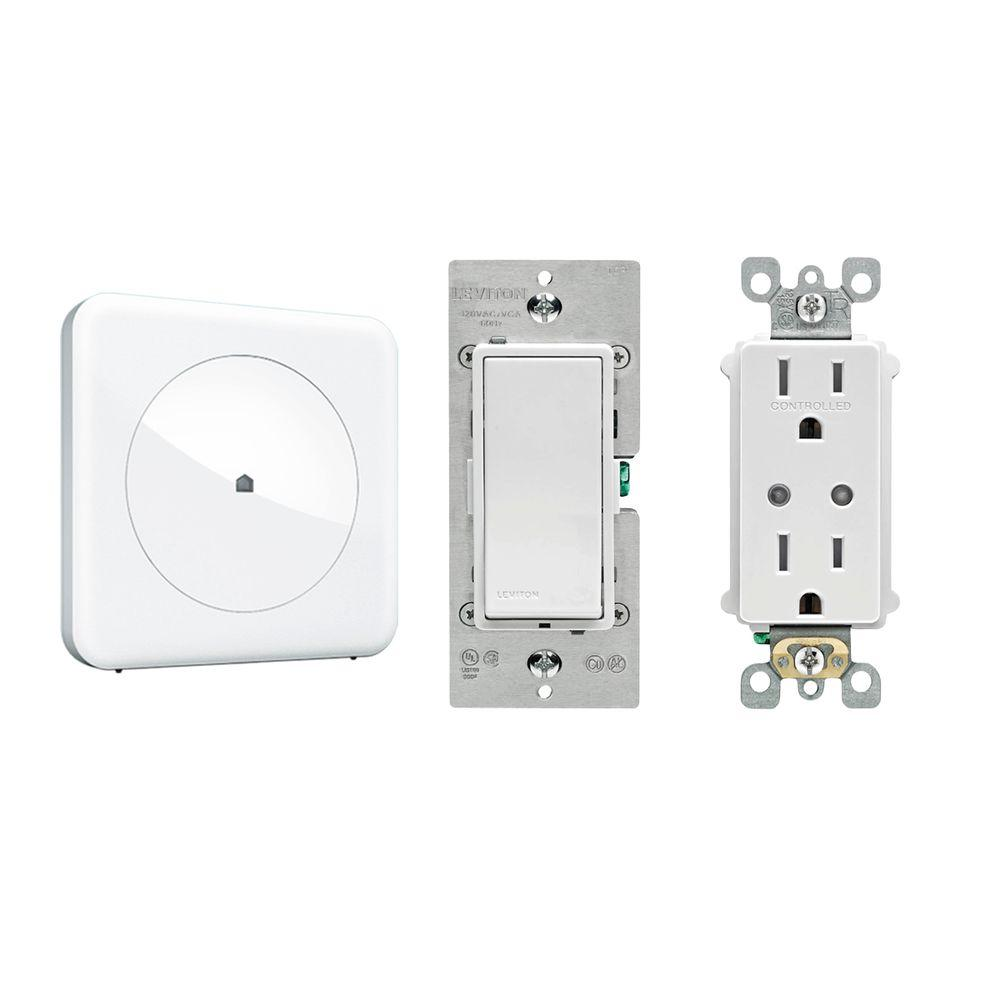 Wink Smart Home Convenience with Wink Hub, Leviton In-Wall Switch ...
