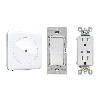 Smart Home Convenience with Wink Hub, Leviton In-Wall Switch and Leviton In-Wall Receptacle