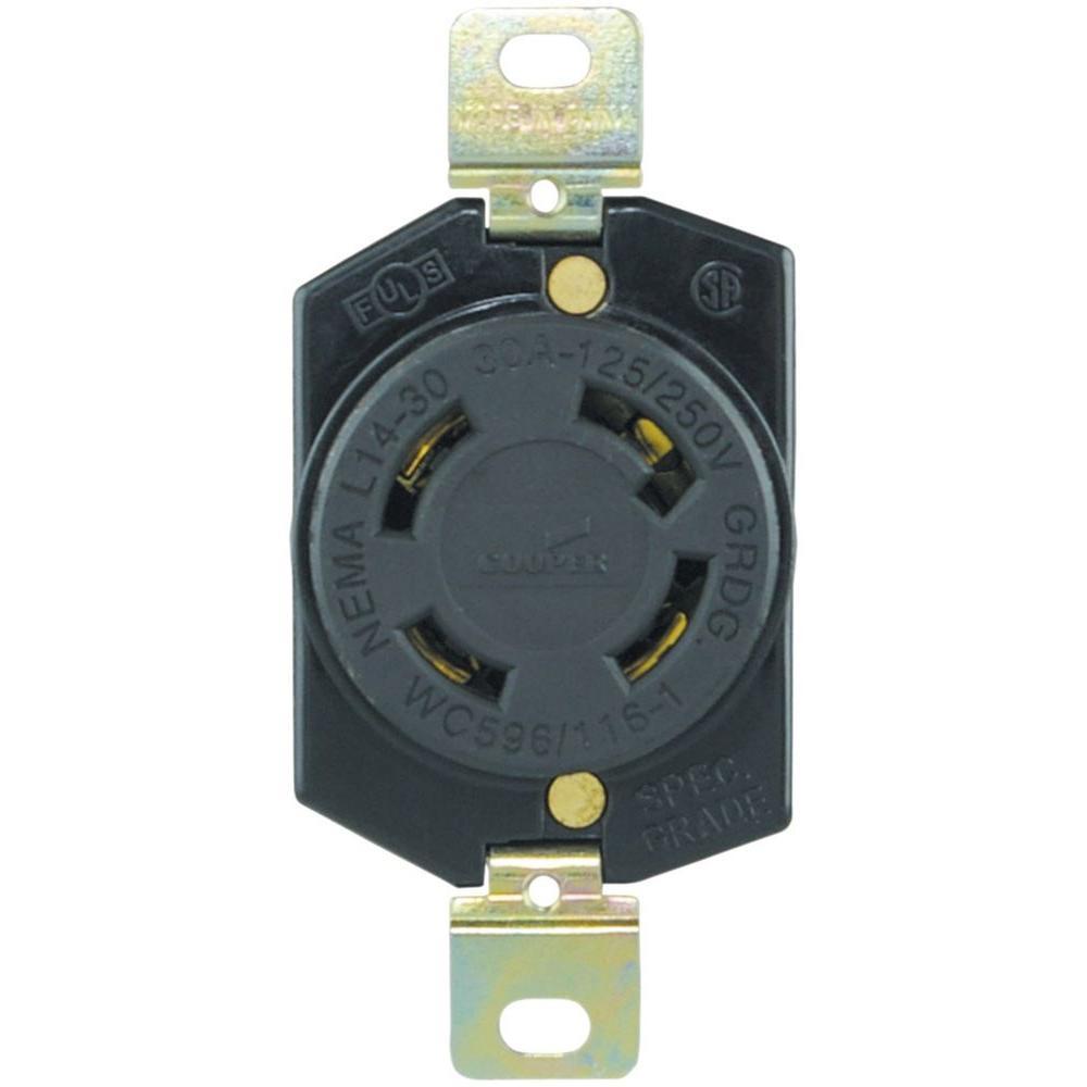 Eaton 30 Amp 125/250-Volt Hart-Lock Industrial Grade ...
