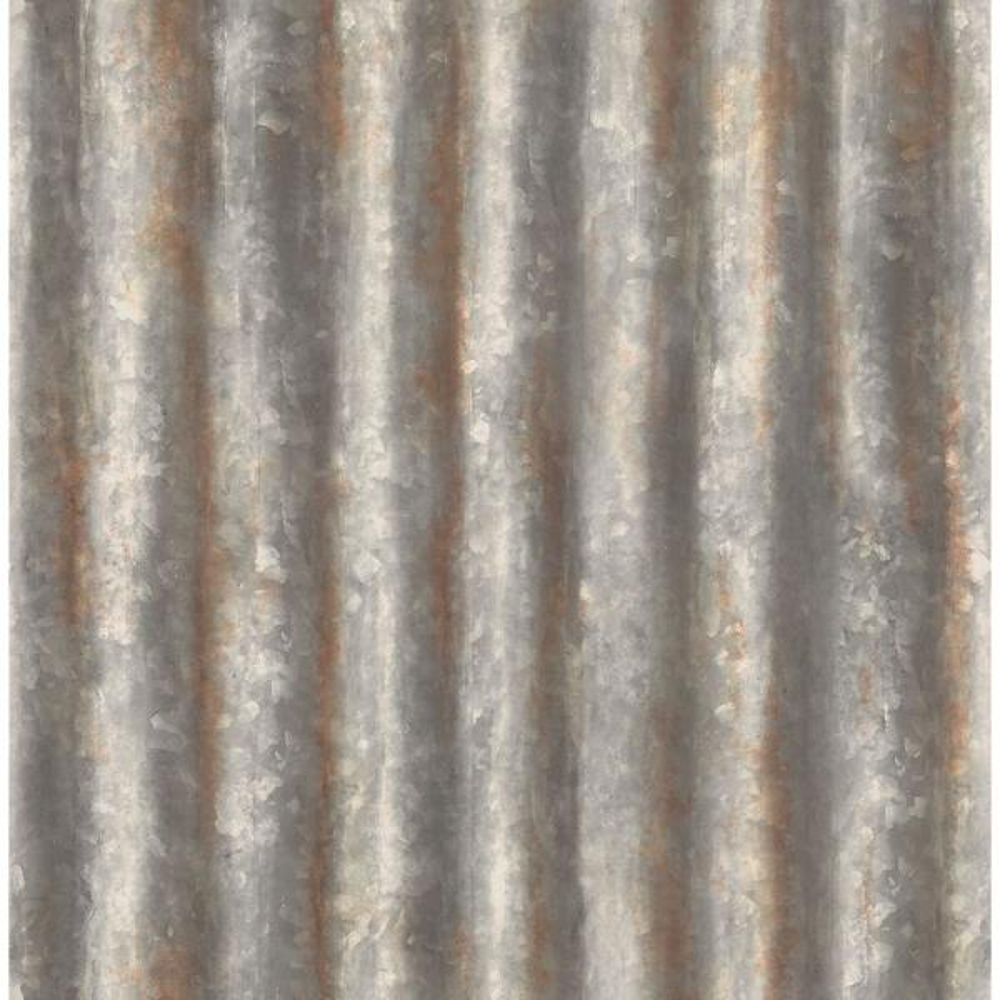 56.4  sq. ft. Kirkland Charcoal Corrugated Metal Wallpaper