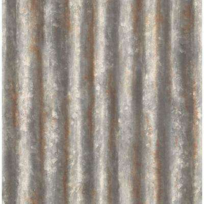 Corrugated Metal Charcoal Texture Charcoal Wallpaper Sample
