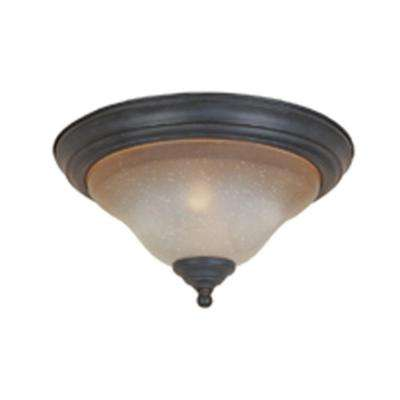 Barcelona 2-Light Natural Iron Ceiling Flush Mount