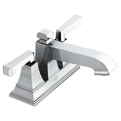 Town Square S 4 in. Centerset 2-Handle Bathroom Faucet with Drain Assembly and WaterSense 1.2 GPM in Chrome