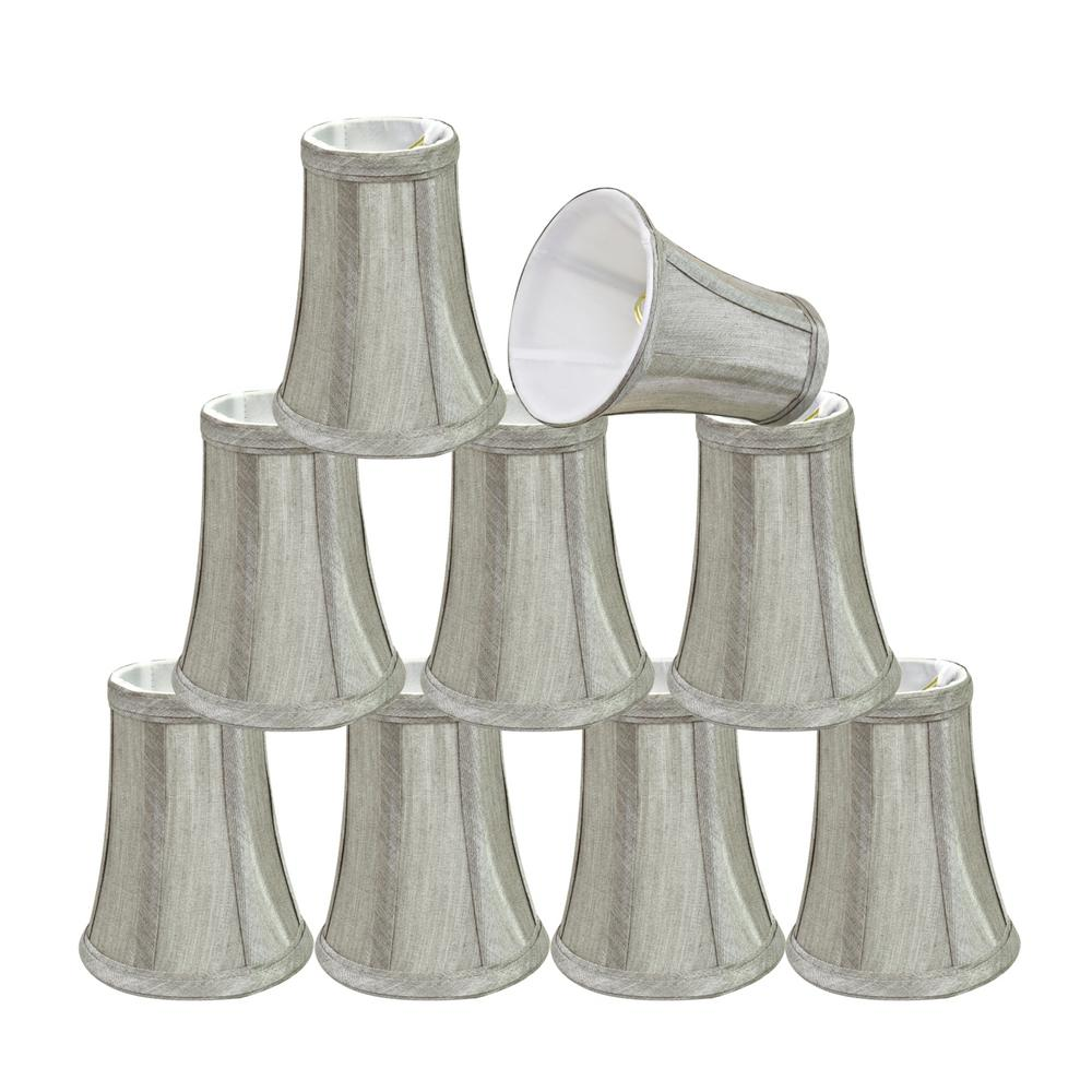4 in. x 4 in. Black Hardback Empire Lamp Shade (9-Pack)