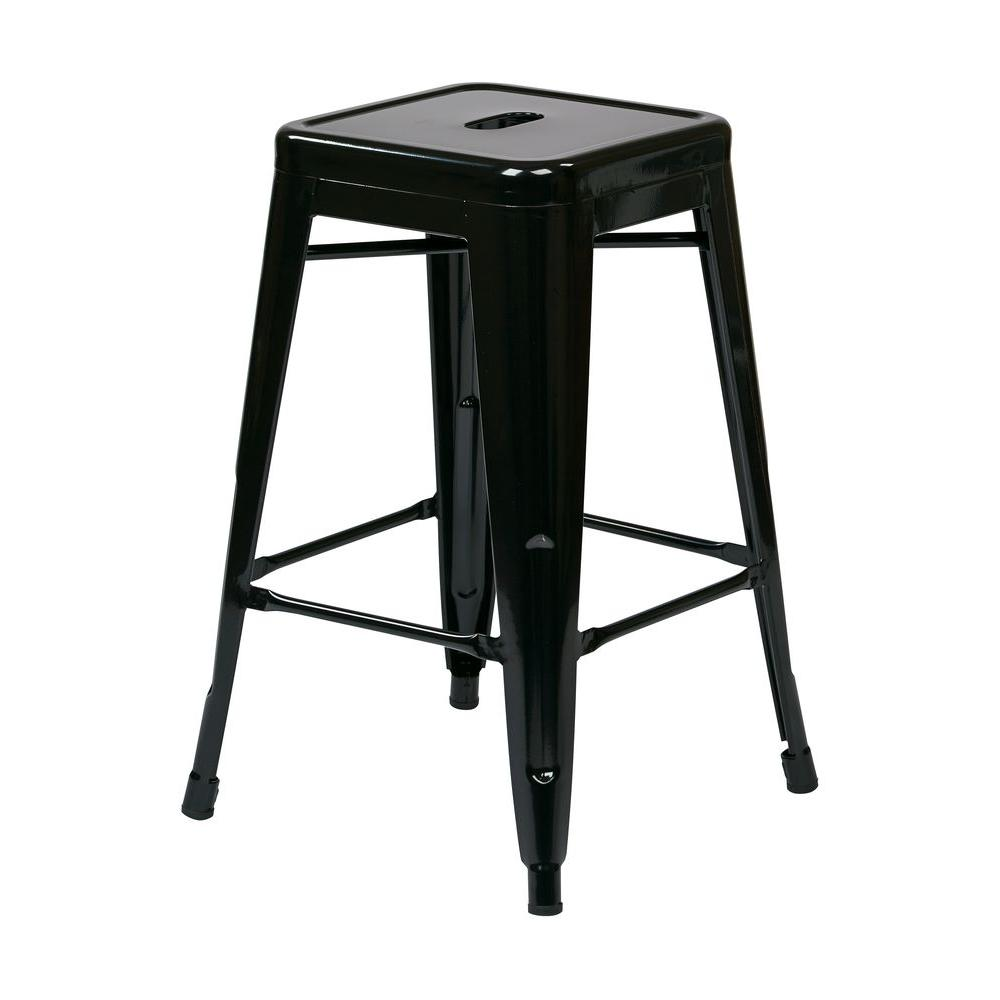 Osp Designs Patterson 24 In Black Bar Stool Ptr3024a2 3 The Home