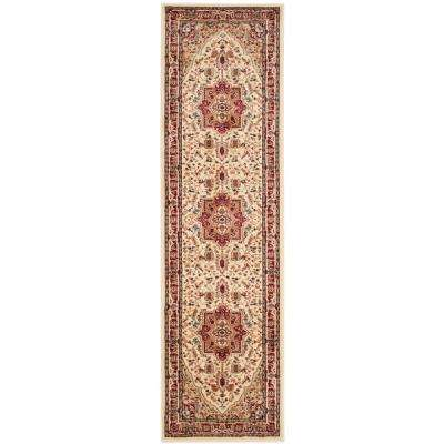 Lyndhurst Ivory/Red 2 ft. 3 in. x 18 ft. Runner Rug