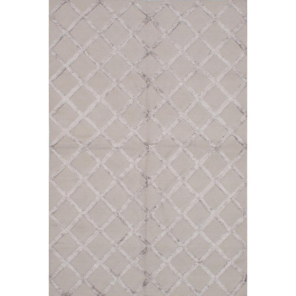 Cambridge Dark Khaki Art Silk Kilim 6 ft. x 9 ft. Area Rug