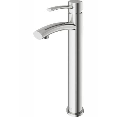 Milo Single Hole Single-Handle Vessel Bathroom Faucet in Brushed Nickel