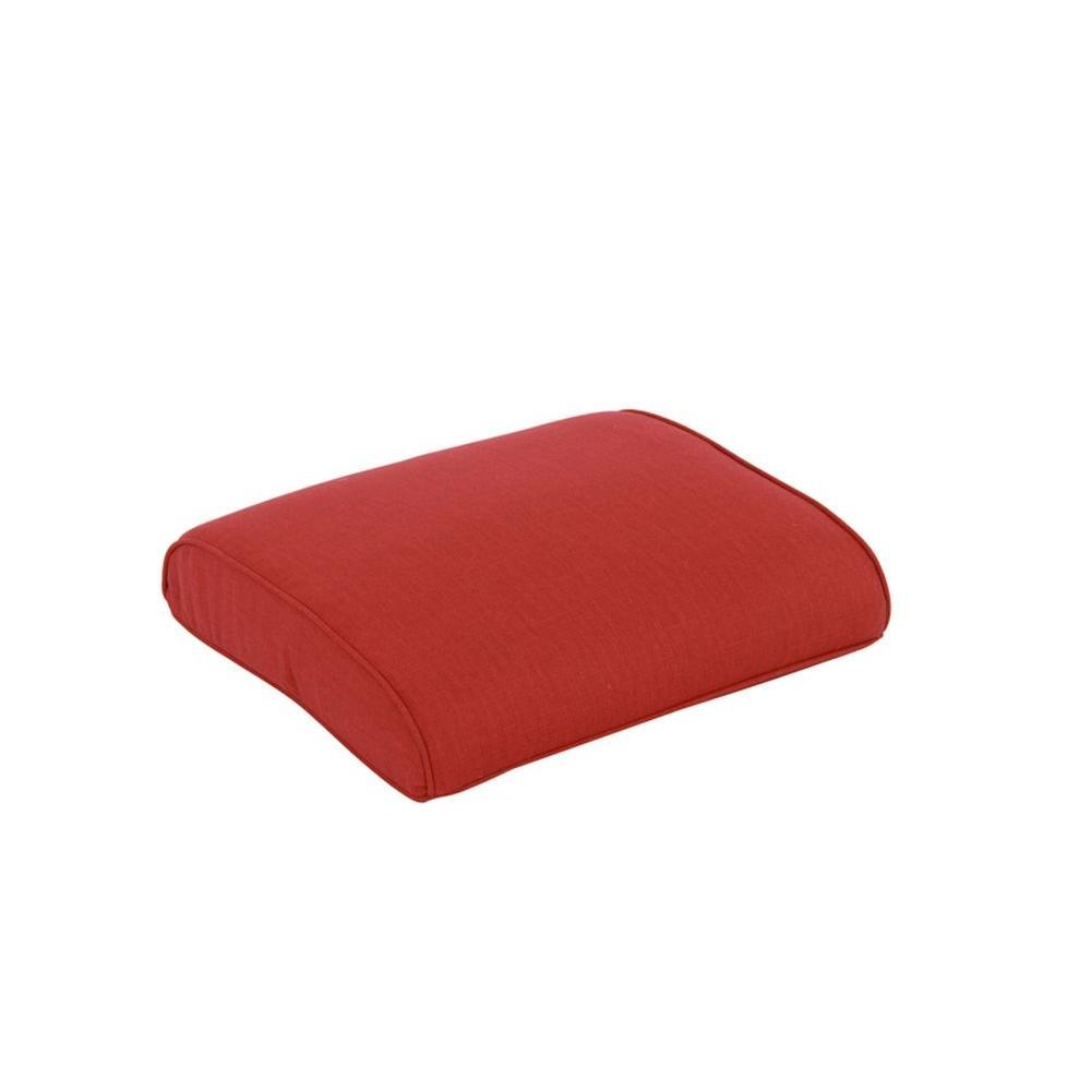 Hampton Bay Walnut Creek Red Replacement Outdoor Ottoman Cushion (2-Pack)
